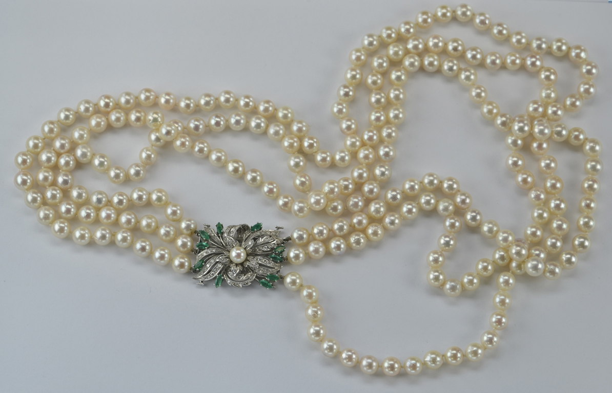 Collar perles